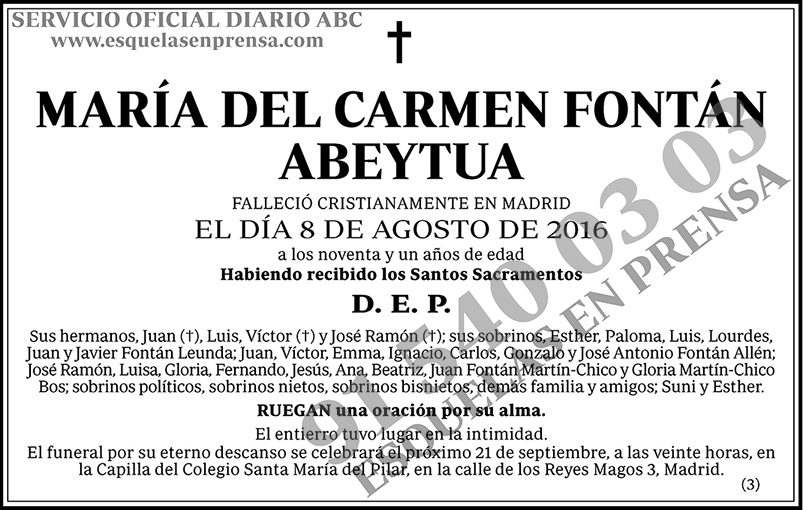 María del Carmen Fontán Abeytua